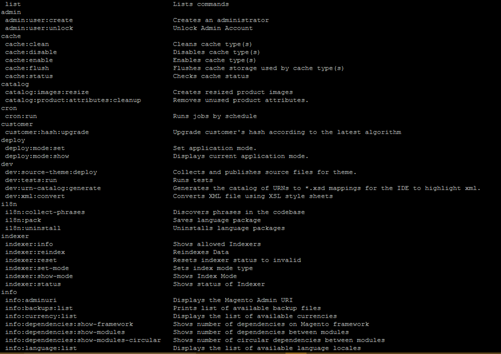 CLI Command for Magent2